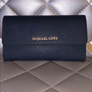 BRAND NEW Michael Korda Wallet, Navy
